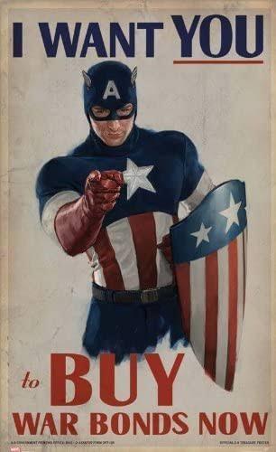 キャプテンアメリカのこのポスターが買いたいんですけど、どこだと売ってますか? Amazonも品切れだしフリマアプリ見てもないし…