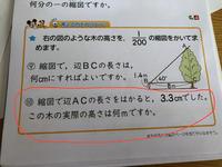 小学校6年の算数教えてください。 ⑩番が分かりません。 答えは約8mです。 なぜそうなるかわかりません。 よろしくお願いします。