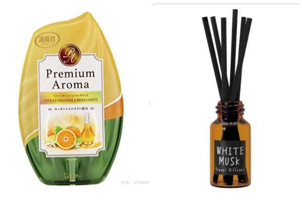 部屋の芳香剤についてです。 左のような入れ物に入った芳香剤を右のような入れ物に入れ替えて使用しても良いのでしょうか。