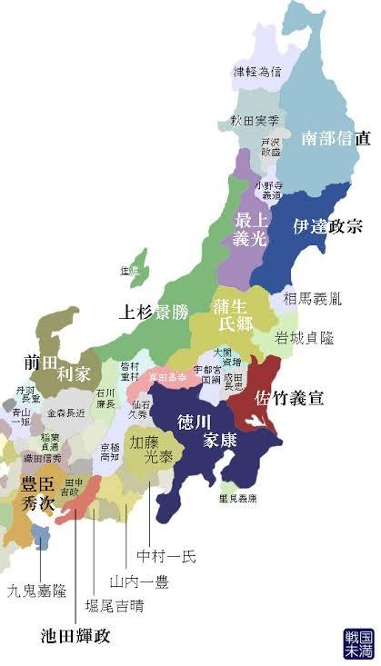 戦国時代の勢力図ですが、関所などが無い場合、国境はどのように決めていたのでしょうか? この図のようにこっちからA氏の国、この家の隣はB氏の国のような綺麗な境目があったのでしょうか?