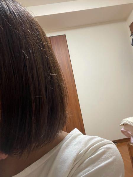 お風呂上がってドライヤーした後のやつです このぴょんぴょん出てくる毛がいやです。。 何か治す方法はありますか? 一応ヘアオイルはドライヤーする前にしています。