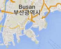 """下のマップは韓国釜山です。 ローマ字で """"BUSAN""""と書いてあります。 日本の出版物では""""プサン""""と書いてあることを目にするのですが、  ハングルの発音は""""ブサン""""に近い""""プサン""""ということなのですか。"""