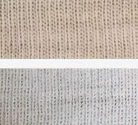 生地の種類、分かりますでしょうか? 下はフライス編みというものだと思うんですけど、上はなんという編み方ですか。  ||と||の間の隙間が広いですよね。