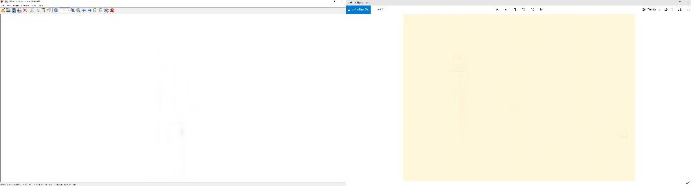 今まで画像ビューアにwindowsフォトビューアーを使ってましたが、何故か最近、薄黄色がかって表示されます。 他の画像ビューアで表示したら普通に表示されますが何故かwindowsフォトビューアーだけがそうなるのです。右側が白い画像をwindowsフォトビューアーで表示したもので左側がIrfanViewで表示したものです。出来たらこれからもwindowsフォトを使用したいと思ってますので、どう対処したら元のように表示されるか教えてください。