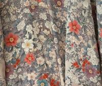 これは辻が花ですか? 写真は着物の背中部分です。  小紋ですが、どんな帯を合わせたらいいのでしょうか?  また、どんな機会に着れますか? おそらくポリ着物です。  よろしくお願い致します。