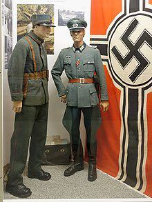 ドイツ軍の軍服の胸についてる鷲章は親衛隊の帽子(制帽ではない)などについているものと同じでしょうか?