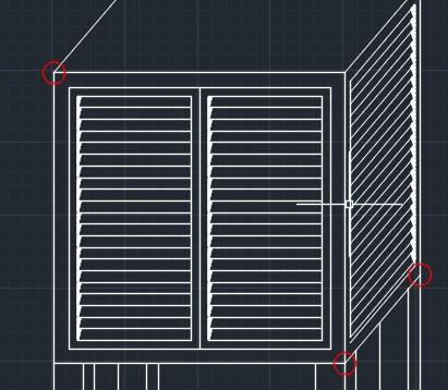 AutoCADWebについて質問です。 数日前からAutoCADWebを使い始めたのですが、本日作図中に図のような赤丸が3ヶ所、いつの間にか出てきていました。図面を拡大・縮小してもこの赤丸は画面上での大きさは一定を保ちます。どうすれば消せますか。また、この赤丸はどういう意味があるのですか。 教えてください。よろしくお願いします。