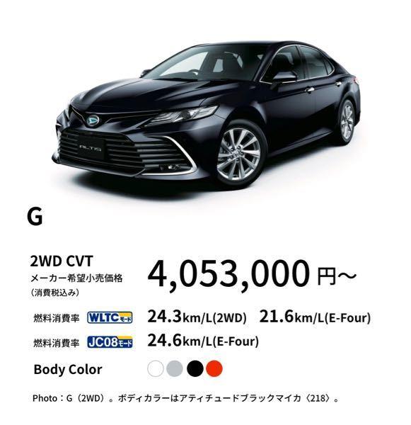 ダイハツで400万円の乗用車の中身はトヨタカムリでしょうか?