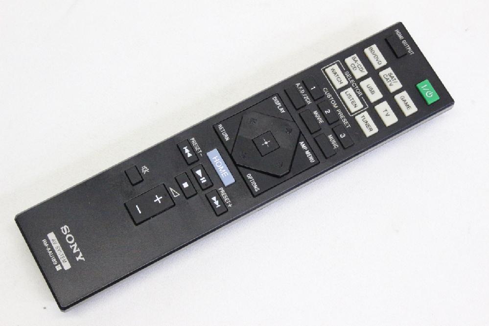 リモコンが無いSONYのAVアンプの購入を考えておりますが、販売終了機種のためなかなか売っておりません。汎用品か、同じSONYの型番が違うAVアンプ用のリモコンで代用を考えておりますが、 1、SONYの学習リモコンはテレビ以外にもAVアンプにも使えるでしょうか? 2、ホームセンターなどにある汎用リモコン(TV用が殆ど?)ではいかがでしょうか? 3、同じSONYで型番が違うリモコンはたくさん出品がありますが、同じメーカーなら問題なく使用できますか? 4、おなじAVアンプ用とはいえ、ONKYOなどメーカーが全く違う場合はいかがでしょうか? おそらく3番を実行しようと考えておりますが、機種が変わるとリモコンボタンの数やボタンの種類、レイアウト等が変わりますが、純正の100%は無理としてもどの程度代用できるでしょうか? 機種はSTR-DN1050で、純正品はAVアンプ用としては結構シンプルなリモコンかと思います。 どうぞよろしくお願いいたします。