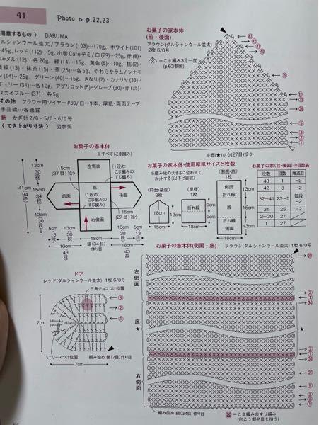 この編み図のものを作成中なのですが、底[34目]と本体(前後面)[27目]の目数にズレ?があり、どう拾ったら綺麗になるのか分からずお聞きしたいです。 (図だと★の所です)