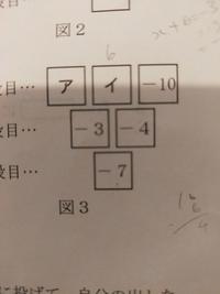 添付画像は、娘の学校の実力テストの問題です。 アとイに入る数字を答える問題です。 娘の解答は、ア、-9 イ、6ですが、不正解でした。 どう見ても正解だと思うのですが、どうでしょうか?