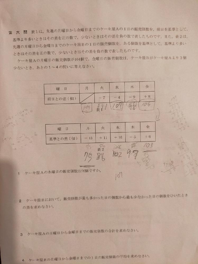 2.の問題ですが、答えは28で合ってるでしょうか?