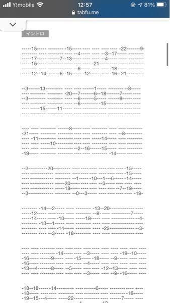 このギターTab譜の読み方が分かりません、解説をお願いします。 Helsinki Lambda Clubの night market という曲です。