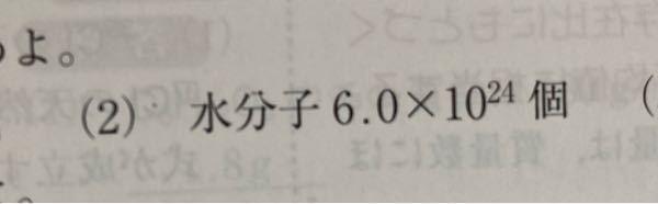 高校1年生の化学基礎の問題です。物質量を求める問題で、答えは10molです。回答の過程を出来るだけ詳しく教えてください。