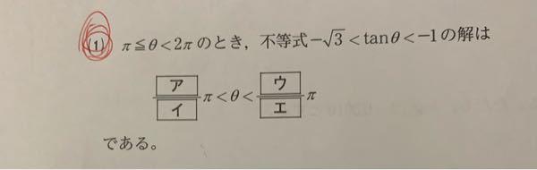 【緊急】この問題の解き方は分かったのですが、π≦θ≦2πが0≦θ≦2πになった時の答えの解説をして欲しいです ♂️