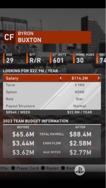MLB The Show 20について質問です。 フランチャイズで資金の運用の仕方がよく分かりません。 球団の残りの資金がどれかよく分からなくて、その残りの資金でシーズンオフでどれくらいのクラス...