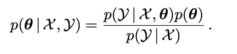 機械学習のMAP推定において,ベイズの定理を用いて以下の等式が成立する途中式を教えてください.