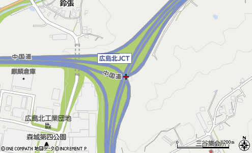 中国自動車道と広島自動車道の広島北JCTは何故中国自動車道を優先していないのですか?