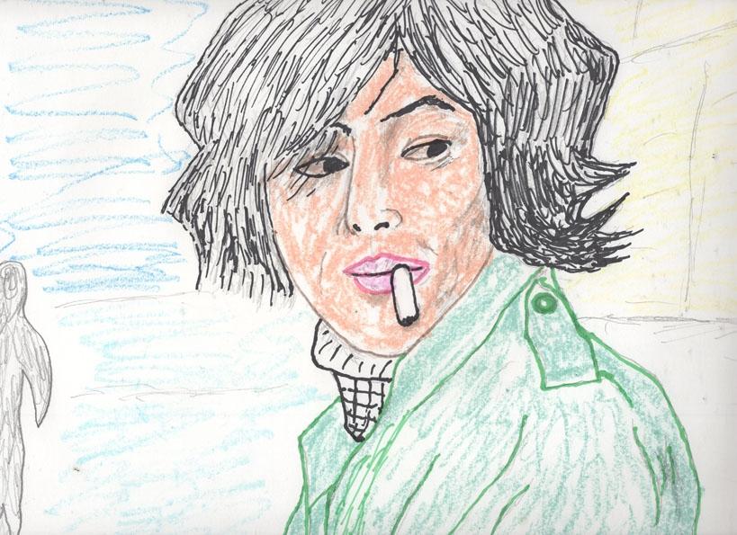 絵を描くとき、2B~4Bの鉛筆で下描きして、 それに色鉛筆で色を塗りしてましたが、 それだと薄いので、 フォトショップにスキャンし、 自動コントラストで濃くしてました。 しかし、それだと何か不自...