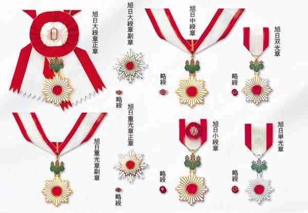 勲章の材料について… ただの興味本位なんですけど、日本の勲章「菊花」「桐花」「旭日」の、真ん中にある赤い石?ガラス?メッキ?の様なツヤのある物の素材は何なのでしょうか? 調べても中々出てこないので質問です。 この人生で貰える事はまずありませんし、着ける機会もないでしょうが、なんだかカッコいいですよねー 【参考資料】 http://www.archives.go.jp/exhibition/digital/ayumi/arekore/02/