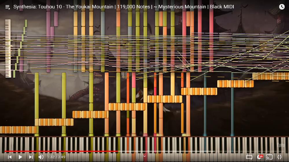 シンセシアでこのように88鍵盤以上表示させるにはどうすればいいですか?