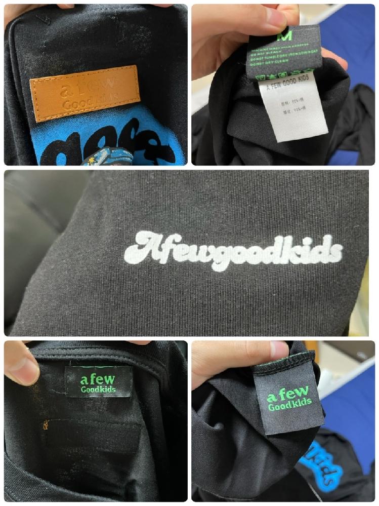 メルカリで8500円でafgkのロンTを購入しました。 確実正規品、鑑定もできると書いてあり購入しましたが正規店で購入したTシャツと見比べるとタグがちゃっちくて糸がもつれていたりしています。 a...