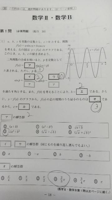 この問題の「オ」の答えが②になるらしいんですけど、意味が分かりません。なぜ最小のものを選ぶのに1番大きいY=3の所が答えなのでしょうか?