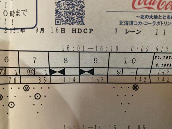 ボウリングの点数についてです。 8フレーム目の点数について 7フレーム目で85点で、8フレームストライクで10点加算、+9フレーム分の点数も加算される為 8フレーム目には 85+10+10 で105点になるはずじゃないですか? なんで114なのでしょうか。