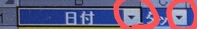 エクセルに詳しい方質問です。 日々の業務をデータ可したく エクセル集計表の作ることになりました。 赤丸を使いたいのですが わかる方よろしくおねがいします。