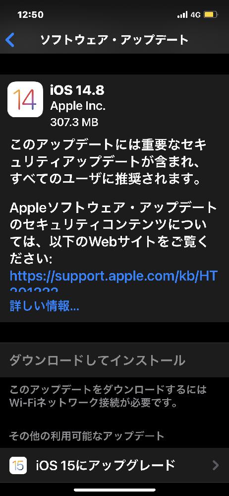 Appleのアップデートが2つあるのですが2つともした方が良いですかね?