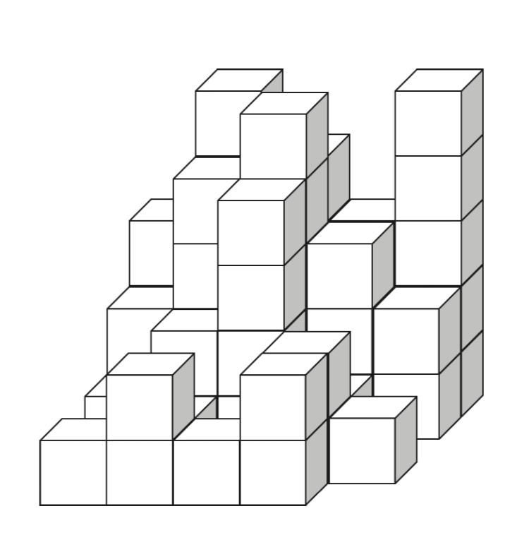 立方体が何個あるのかっていう問題なんですけどこれの答えわかりますか? 54個だと思ったんですけど合ってますか?