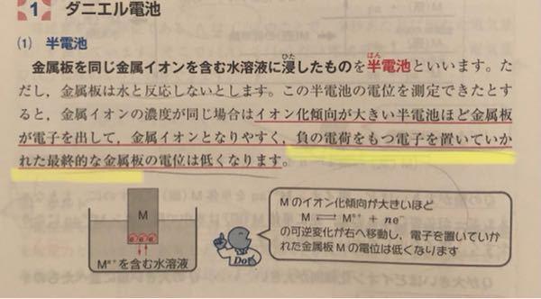 負の電荷を置いていかれた金属板とありますが、Zn→(Zn2+) + 2e- のように金属が溶け出す時、電子は水中に溶け出すのではないのですか?