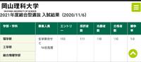 岡山理科大学の総合型選抜(AO)を受けるのですが、合格率(倍率)を調べると2021年度も2020年度も倍率が1.0倍なのですが、これは出願した人全員受かっているのでしょうか?