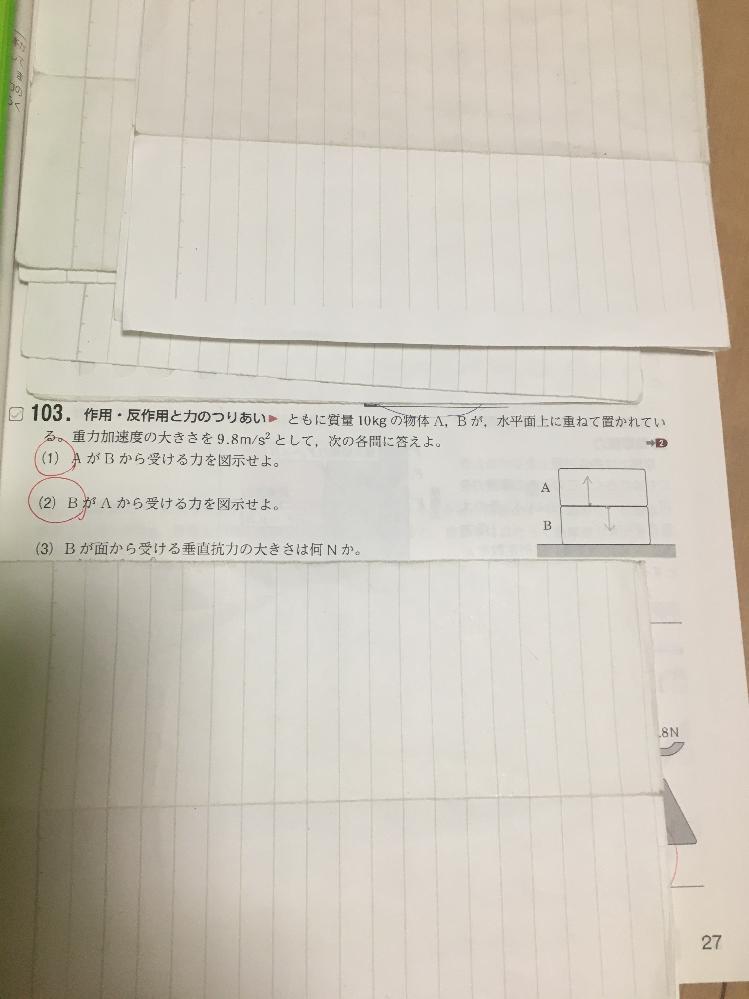 物理基礎の問題で 103の(3)の問題がわからないので 解き方を教えてください。 できれば詳しく説明していただけると 嬉しいです。