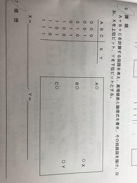 コイン100枚 至急 この問題解いてください。 論理式と真理値表と回路図も描いてお願いします。