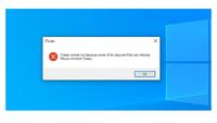 iTunesのダウンロード 先日パソコン (Windows10)で最新のiTunesにupdateしたら、写真のような表示が出て使用できなくなりました。アンインストールして再度インストールしても同様です。何が原因でしょうか?