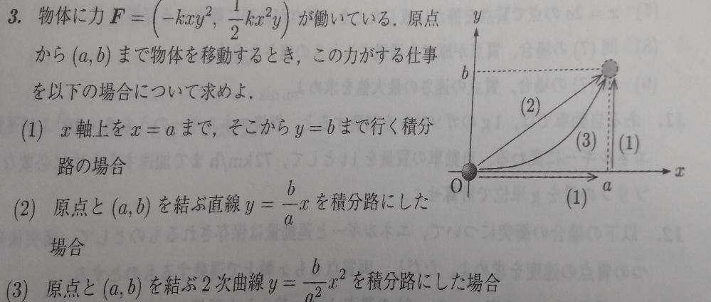 大学の物理で(2)が分かりません