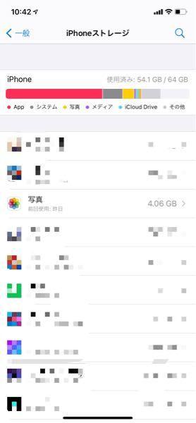 iCloudがいっぱいだったので「iCloud写真」をオフにしました。でもやっぱり戻そうと思って戻したは良いんですけど、iPhoneストレージに写真の容量が残ったまんまなんですよね。これ消せないんですか?