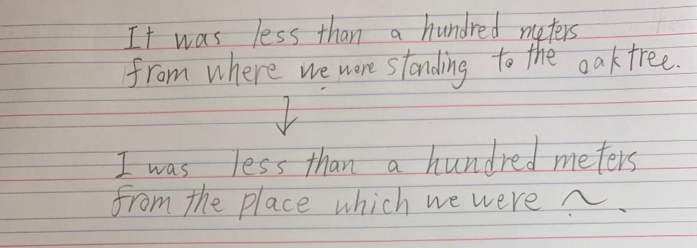関係詞の問題です。 上の文から下の文に書き換えることは可能ですか?