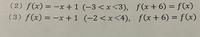フーリエ級数を解け、という問題で下の問題が分かりません。周期と範囲がズレている場合どのように解けばいいのでしょうか?