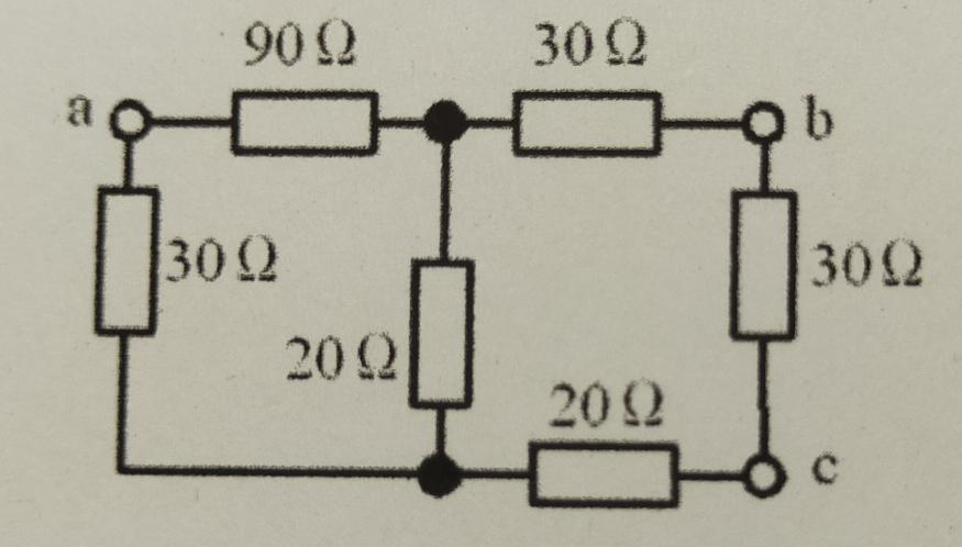 電気回路について この抵抗RabとRacの求め方を教えて下さい。 宜しくお願い致します。