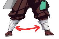 鬼滅の刃 コスプレについての質問です。 隊服の足の部分(脚絆?)を、自分の足のサイズに作りたいのですが  ・既に持っている脚絆のサイズを大きくする方法 ・一から作る際に ミシンがなくても作れる、作り方 ・詳しい作り方が載ったサイト  を教えていただきたいです。  (すぐ解けず、且つ伸縮性がある感じで作れたらいいと思っています。)