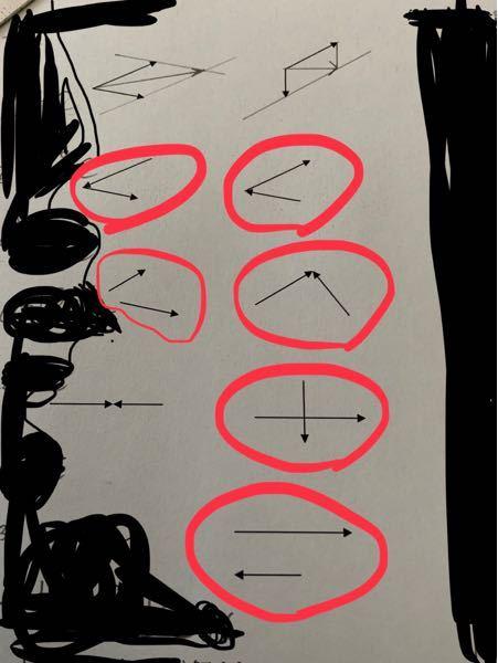 高校物理 合成せよ(図示)という問題です 赤丸がついているところ教えてください。