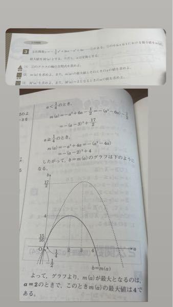高校数学の二次関数の問題です。 なぜ最大値は2分の17ではなく、4なのでしょうか。