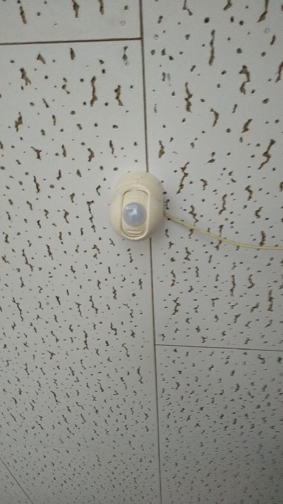天井にあったものについて教えてください。 天井に取り付けてある画像の物体が何か、わかる方いらっしゃったら教えてください。