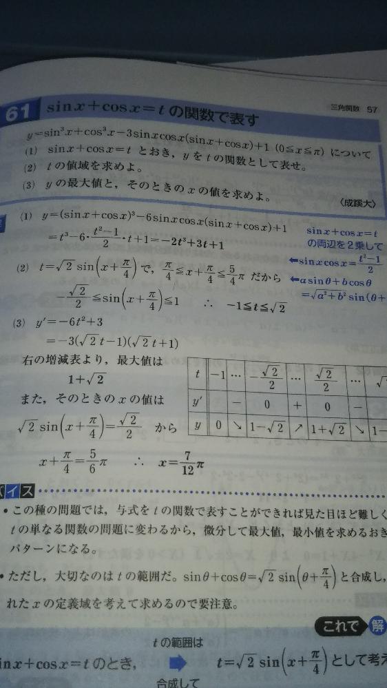(2)の答えの2行目が分からないので、なぜこうなるのか教えて欲しいです