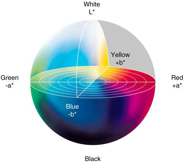 色座標の球体をパワーポイントで作るにはどうしたらいいですか?
