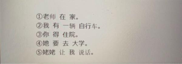 この5つの中国語の文を否定文にしてください。お願いします ♀️
