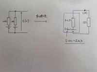 左図を右図に置き換えた時の、右図のE=60v となる、過程を解説していただきたいです。