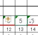 Excelで勤務表を作っています。 今まで 日勤は8時間の意味で「8」を 夜勤は14時間の意味で「14」を 休みは「休」とプルダウンでセルに設定していました。 追加で5時間勤務を追加しようと思い、「5」をプルダウンの列に追加したのですが 入力するとエラーになり数字として認識されません。また、集計のSUMの計算にも反映されません。  プルダウンの行に追加したのも、行と行の間にいれたので入力規則...